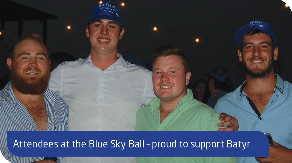 Attendees at the Blue Sky Ball